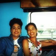 Selena Quintanilla with her sister