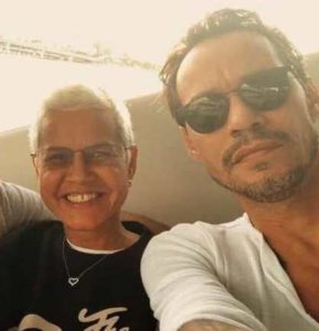 Marc Anthony with his mother