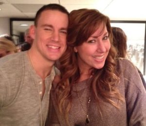 Channing Tatum with his sister
