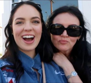 Claudia Sulewski with her mother