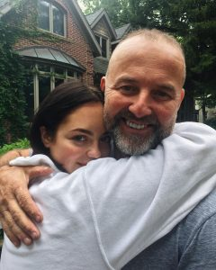 Claudia Sulewski with her father