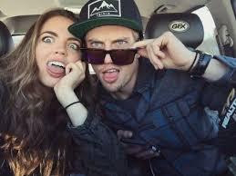 Claudia Sulewski with her ex-boyfriend Logan
