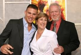 Channing Tatum with his parents