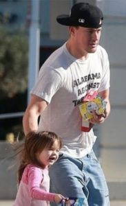 Channing Tatum with his daughter