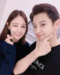 Park Chanyeol with his sister