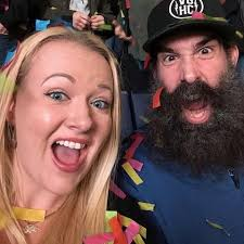 Luke Harper with his wife
