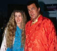 Steven Seagal with his ex-wife Adrienne