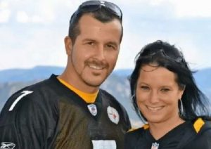 Chris Watts with his wife