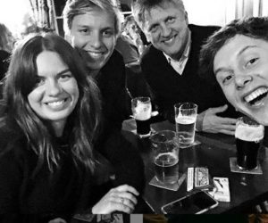 George Ezra with her family