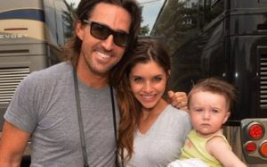 Jake Owen with his ex-wife Lacey & daughter