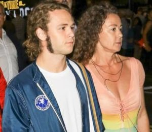 Jack Perry with his mother