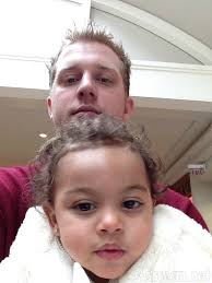 Kyle Chrisley with his daughter