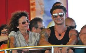 Pauly D with his mother