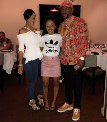 Iyanna Mayweather with her parents