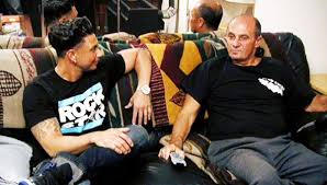 Pauly D with his father