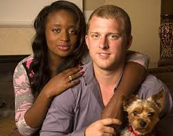 Kyle Chrisley with his wife