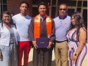 CJ Fuller with his family