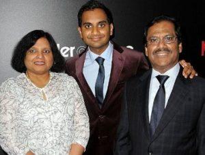 Aziz Ansari with his parents