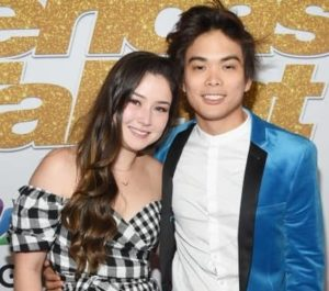Shin Lim with his wife
