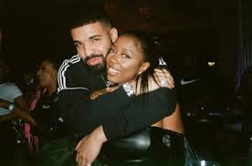 Kash Doll with his ex-boyfriend Drake