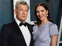 David Foster with his girlfriend Katharine