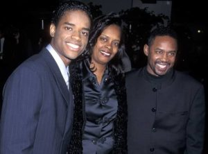 Larenz Tate with her parents