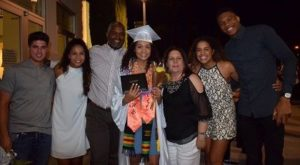Mariah Riddlesprigger with her family