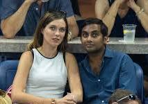Aziz Ansari with his girlfriend Serena