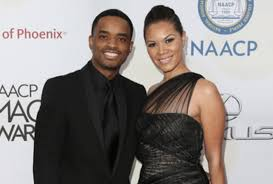 Larenz Tate with her wife