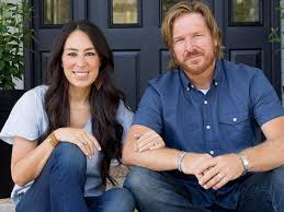 Joanna Gaines with her husband