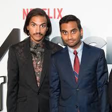 Aziz Ansari with his brother