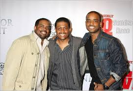 Larenz Tate with her brothers