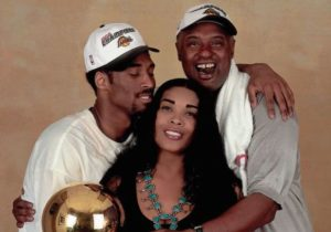 Kobe Bryant with his parents