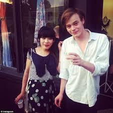 Charlie Heaton with his ex-girlfriend Akiko