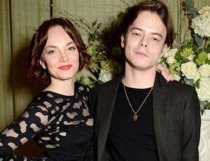 Charlie Heaton with his sister