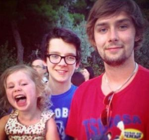 Asa Butterfield with his brother & sister