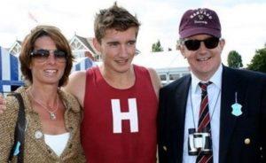 Caspar Jopling with his parents
