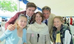 Caspar Jopling with his family