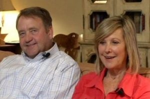 Karen Lawrence with her husband
