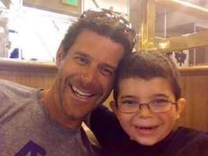 Slade Smiley with his son