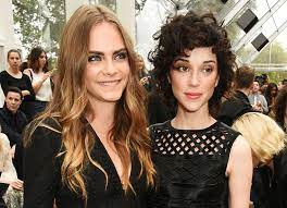 Cara Delevingne with her ex-girlfriend St. Vincent
