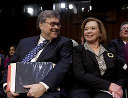 William Barr with his wife