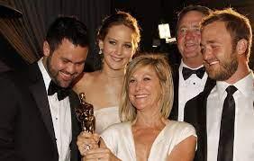 Karen Lawrence with her husband & children
