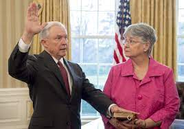Jeff Sessions with his wife