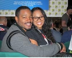 Zinzi Evans with her husband
