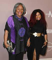Chaka Khan with her mother