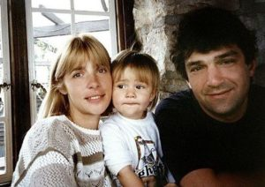 Anastasia Shubskaya with her parents
