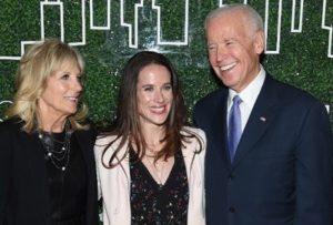 Ashley Biden with her parents