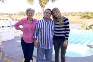Naomie Olindo with her parents