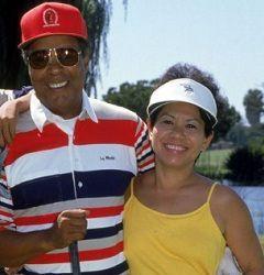 Kultida Woods with her husband